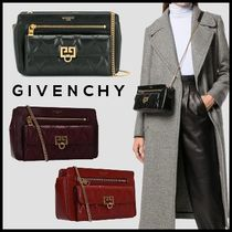 GIVENCHY 2WAY Chain Plain Leather Elegant Style Shoulder Bags