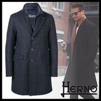 HERNO Other Check Patterns Wool Street Style Long Coats