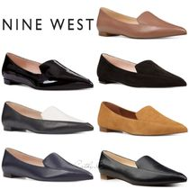 Nine West Plain Leather Block Heels Elegant Style