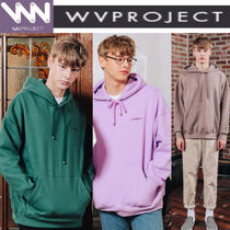 WV PROJECT Pullovers Unisex Studded Long Sleeves Cotton Hoodies