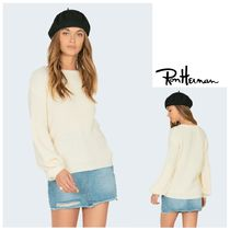 Ron Herman Crew Neck Cable Knit Casual Style Blended Fabrics
