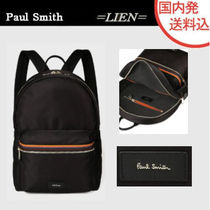 Paul Smith Stripes Unisex Nylon Street Style Plain Backpacks