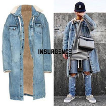 Insurgence Wear Denim Street Style Plain Long Oversized Coats