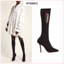 VETEMENTS Casual Style Plain Pin Heels High Heel Boots