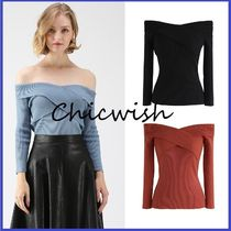 Chicwish Casual Style Plain Medium Bandeau & Off the Shoulder
