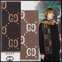 GUCCI Monogram Wool Scarves