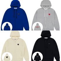 COMME des GARCONS Heart Unisex Street Style Long Sleeves Hoodies