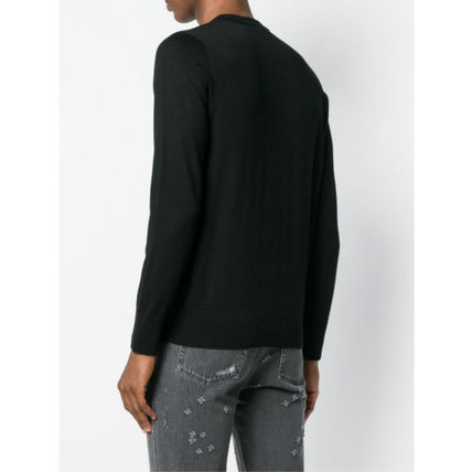 GIVENCHY Knits & Sweaters Crew Neck Pullovers Wool Long Sleeves Plain Knits & Sweaters 4