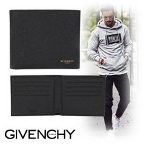 GIVENCHY Street Style Plain Leather Folding Wallets