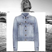 Saint Laurent Short Star Casual Style Denim Jackets