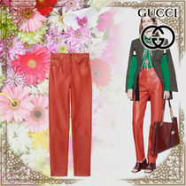 GUCCI Leather Leather & Faux Leather Pants