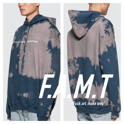 Pullovers Street Style Tie-dye Long Sleeves Cotton Hoodies