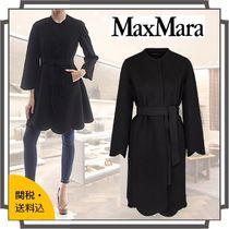 MaxMara Wool Plain Medium Midi Elegant Style Wrap Coats