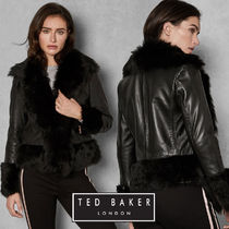 TED BAKER Plain Leather Medium Biker Jackets