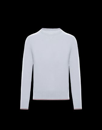MONCLER Knits & Sweaters Crew Neck Wool Long Sleeves Plain Knits & Sweaters 5