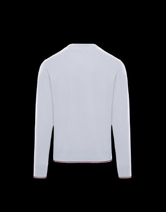 MONCLER Knits & Sweaters Crew Neck Wool Long Sleeves Plain Knits & Sweaters 6
