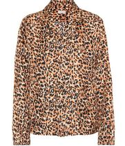 Dries Van Noten Leopard Patterns Silk Long Sleeves Shirts & Blouses