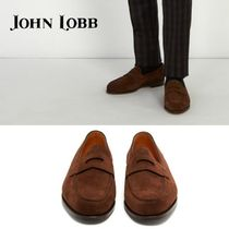 John Lobb LOPEZ Loafers Suede Plain U Tips Loafers & Slip-ons