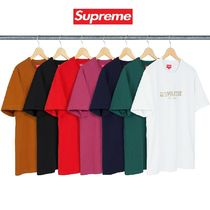Supreme Unisex Street Style U-Neck Cotton Short Sleeves T-Shirts