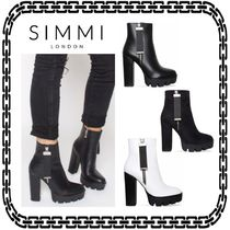 SIMMI Casual Style Unisex Street Style Ankle & Booties Boots