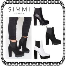 SIMMI Casual Style Unisex Street Style Chelsea Boots