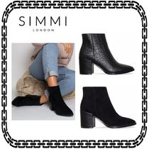 SIMMI Casual Style Street Style Other Animal Patterns Block Heels