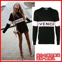 GIVENCHY Crew Neck Unisex Wool Street Style Long Sleeves Sweaters