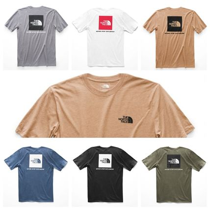 THE NORTH FACE Crew Neck Crew Neck Street Style Short Sleeves Crew Neck T-Shirts