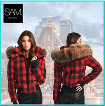 SAM NEW YORK Other Check Patterns Street Style Down Jackets