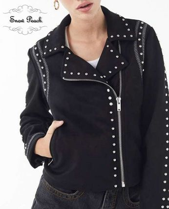 ecce2f0928 ... Urban Outfitters More Jackets Short Casual Style Studded Plain Jackets  ...