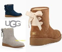 UGG Australia Round Toe Rubber Sole Suede Street Style Plain