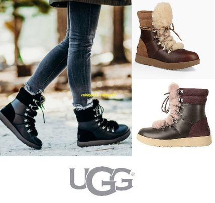 UGG Australia Ankle & Booties Round Toe Rubber Sole Casual Style Blended Fabrics