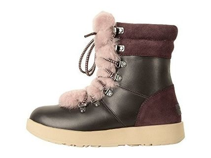 UGG Australia Ankle & Booties Round Toe Rubber Sole Casual Style Blended Fabrics 5