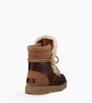 UGG Australia Ankle & Booties Round Toe Rubber Sole Casual Style Blended Fabrics 11