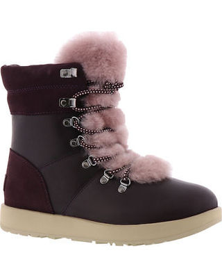 UGG Australia Ankle & Booties Round Toe Rubber Sole Casual Style Blended Fabrics 18