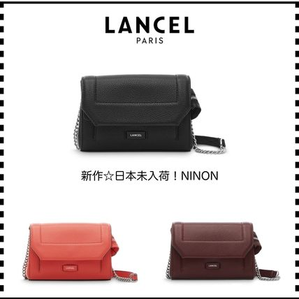 Casual Style 2WAY Chain Plain Leather Shoulder Bags