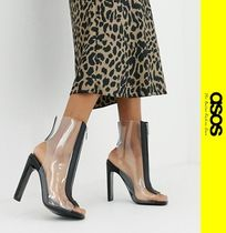 ASOS Open Toe Casual Style Block Heels Ankle & Booties Boots