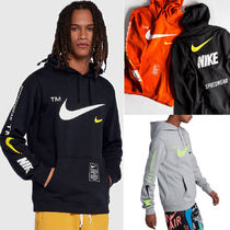 Nike Unisex Street Style Long Sleeves Cotton Logos on the Sleeves