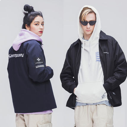 Casual Style Unisex Street Style Plain Medium Oversized