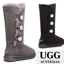 UGG Australia Round Toe Casual Style Suede Over-the-Knee Boots