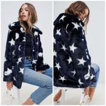 ASOS Star Faux Fur Plain Cashmere & Fur Coats