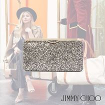 Jimmy Choo 2WAY Chain Plain Leather Party Style Clutches