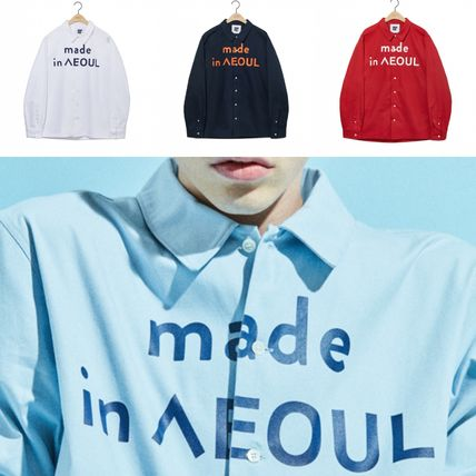 Unisex Street Style [NOHANT] MADE IN SEOUL SHIRT