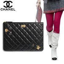 CHANEL Casual Style Calfskin Bag in Bag 2WAY Plain With Jewels