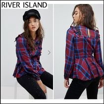 River Island Tartan Casual Style Long Sleeves Shirts & Blouses