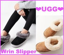 UGG Australia WRIN Round Toe Rubber Sole Casual Style Sheepskin Street Style