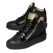 GIUSEPPE ZANOTTI Casual Style Plain Leather Low-Top Sneakers