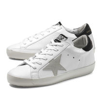 Golden Goose Star Casual Style Leather Low-Top Sneakers
