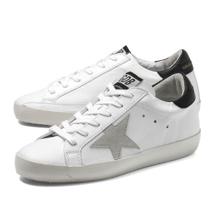 Star Casual Style Leather Low-Top Sneakers