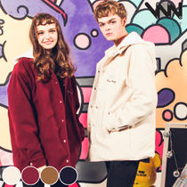 WV PROJECT Unisex Street Style Collaboration Plain Coats